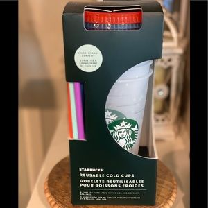 Starbucks Color Changing Confetti Cold Cup Set
